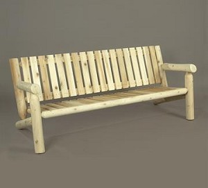 Unstained Natural Cedar 6 Foot Settee Bench