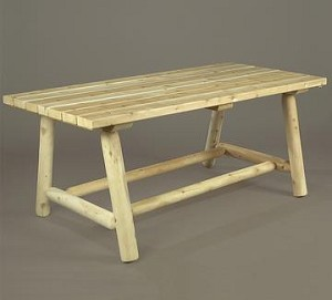 Unstained Natural Cedar Classic Farmer's Table