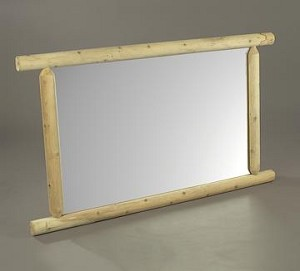 Unstained Natural Cedar Dresser Mirror