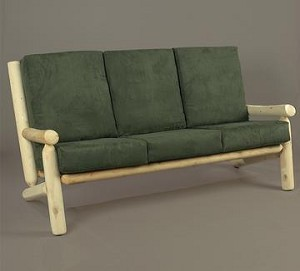 Unstained Natural Cedar Living Room Couch