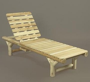 Unstained Natural Cedar Lounge Chair