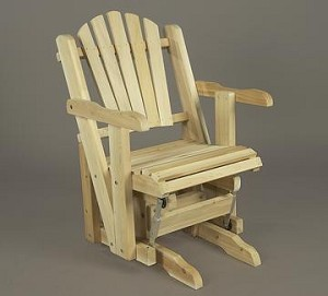 Unstained Natural Cedar Pacific Glider Chair