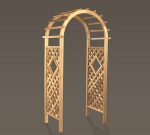 Unstained Natural Cedar Window Arbor
