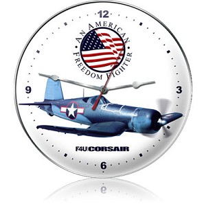 F4U Corsair Metal Clock