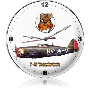P-47 Dogface Metal Clock
