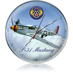 P-51 8th Air Force Metal Clock