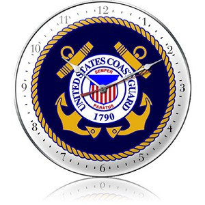 US Coast Guard Metal Clock