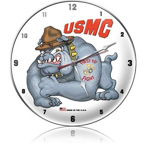USMC First To Fight Metal Clock