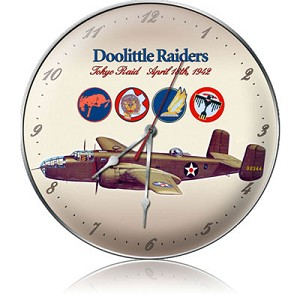 Doolittle Raiders Metal Clock