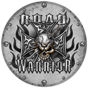 Road Warrior Metal Clock