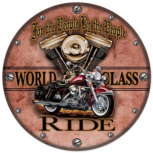 World Class Ride Metal Clock