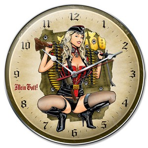 Frau Flyer Metal Clock