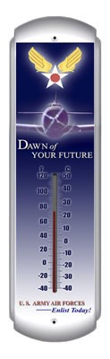 Dawn Of Your Future Metal Thermometer