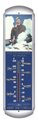 Army Air Force Metal Thermometer