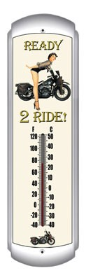 Ready 2 Ride Metal Thermometer