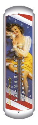 American Beauty Metal Thermometer
