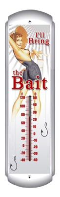 Bring The Bait Metal Thermometer