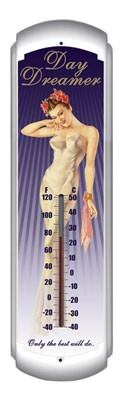 Day Dreamer Metal Thermometer