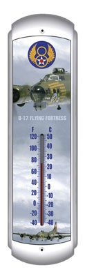 B-17 Flying Fortress Metal Thermometer
