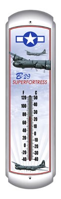 B-29 Superfortress Metal Thermometer