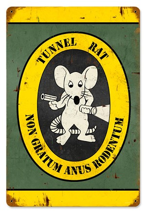 Tunnel Rat Vintage Metal Sign