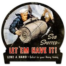 Enlist In Your Navy Vintage Metal Sign
