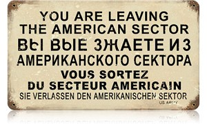 American Sector Vintage Metal Sign