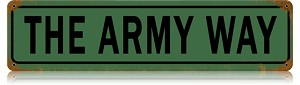 The Army Way Metal Street Sign