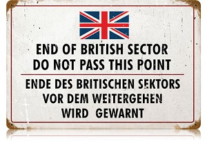 British Sector Vintage Metal Sign