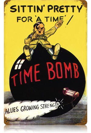 Time Bomb Vintage Metal Sign