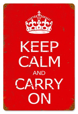 Keep Calm Vintage Metal Sign