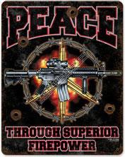 Superior Firepower Vintage Metal Sign