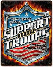 Support Our Troops Vintage Metal Sign
