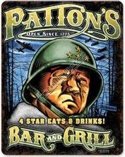 Patton's Bar & Grill Vintage Metal Sign