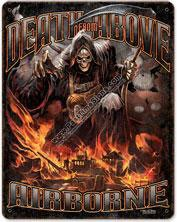 Death From Above Vintage Metal Sign