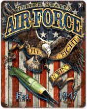 U.S. Air Force Eagle Vintage Metal Sign