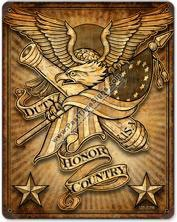 Duty, Honor, Country Vintage Metal Sign