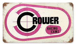 Crower Racing Cams Vintage Metal Sign