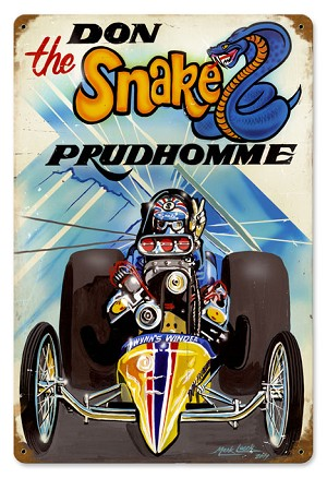 Prudhomme The Snake Vintage Metal Sign