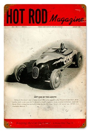 Hot Rod Magazine Premier Issue Vintage Metal Sign