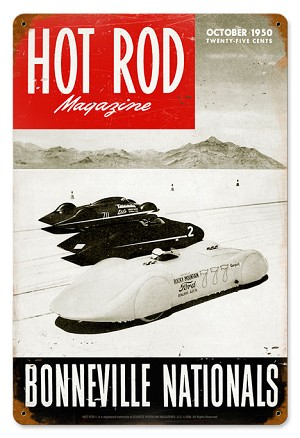 Hot Rod Magazine Bonneville Nationals Metal Sign