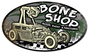 Bone Shop Vintage Metal Sign