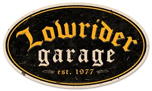 Lowrider Garage 2 Vintage Metal Sign