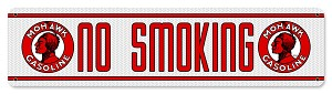 No Smoking Mohawk Vintage Metal Sign