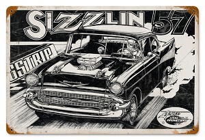 Sizzlin' 57 Vintage Metal Sign