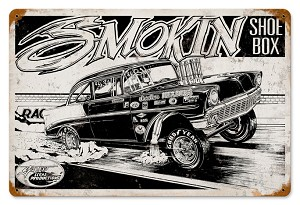 Smokin' Shoebox Vintage Metal Sign