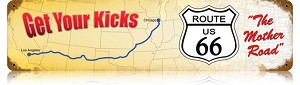 Route 66 Get Your Kicks Vintage Metal Sign