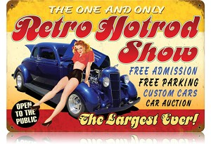Retro Hot Rod Show Vintage Metal Sign