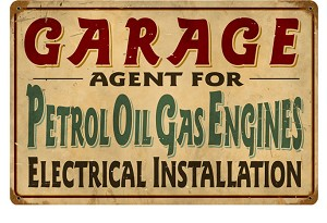 Petrol Garage Vintage Metal Sign