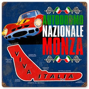 Monza Racing Vintage Metal Sign